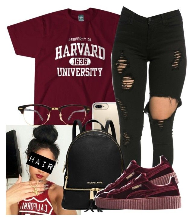 """Untitled #647"" by camsxbae ❤ liked on Polyvore featuring Speck, Ray-Ban, Michael Kors and Puma"