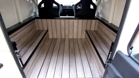 Land Rover Defender 110 Teak Style Interior Accessory by Chelsea Truck Company