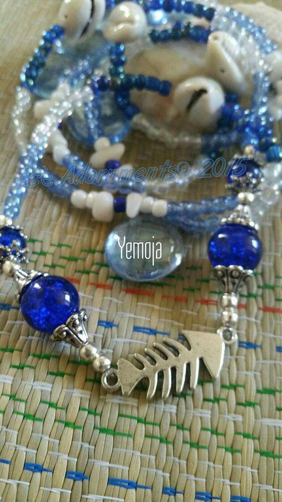 Check out this item in my Etsy shop https://www.etsy.com/listing/261070555/yemoja-necklace-fish-charm-yemaya-ileke