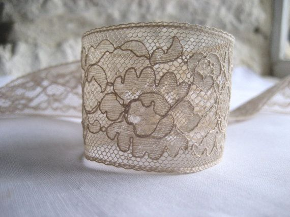 French Vintage Lace Edging  45mm wide/over 7 by Chezpetitpica, €37.50