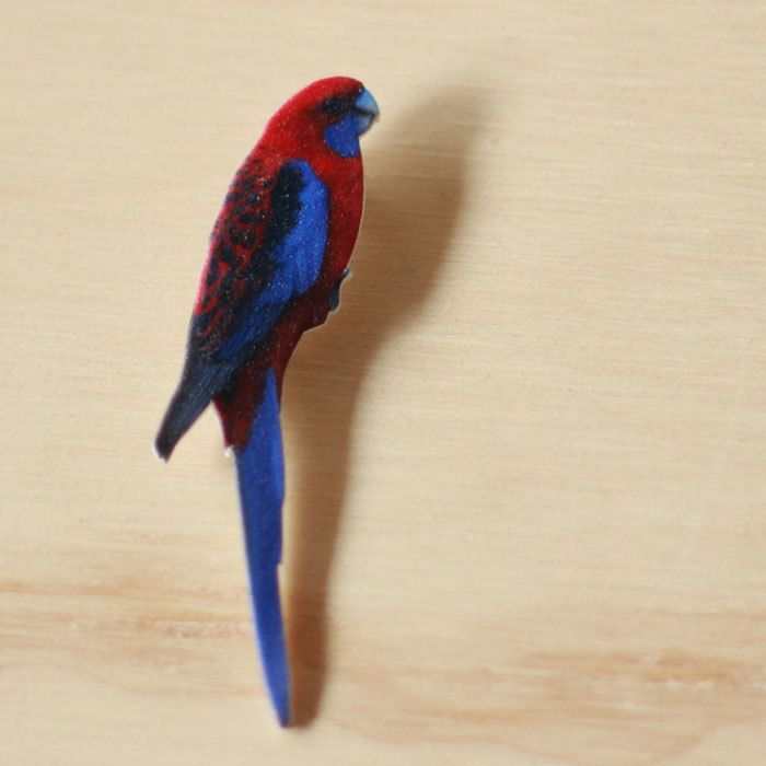 Image of Bird Series - Rosella Brooch