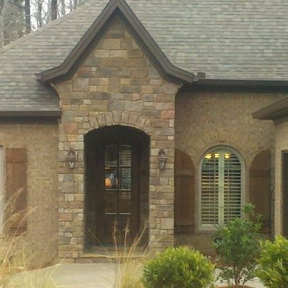 12 best images about stone brick combos on pinterest for Brick stone combinations
