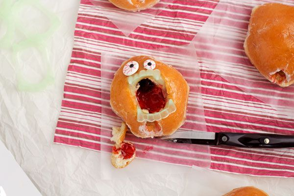 Zombie Donuts with  www.thebearfootbaker.com