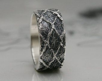 Lacey no 14 - sterling silver lace ring -  ready to ship in size 9 or made to order in your size