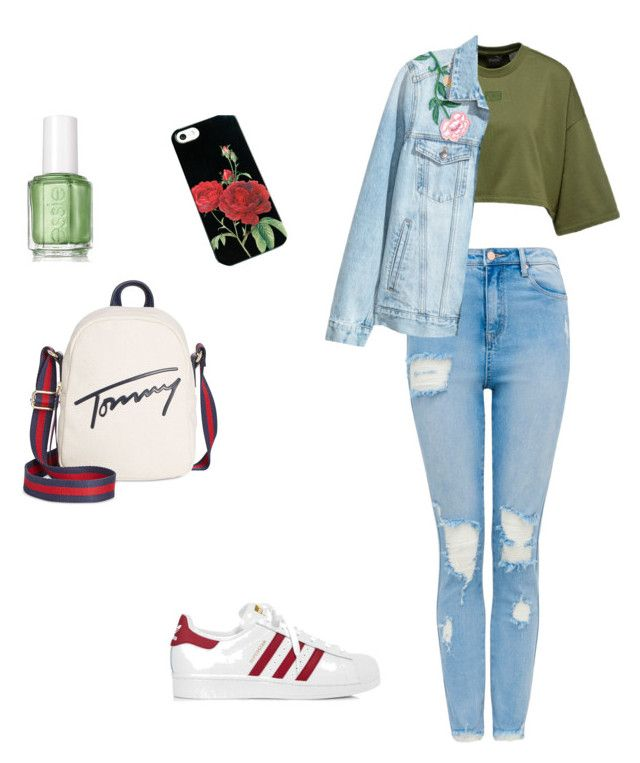 """Untitled #15"" by pacaca-gemela on Polyvore featuring adidas, Tommy Hilfiger and Essie"