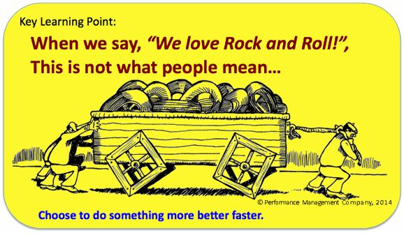 Rock and Roll is not thumping on Square Wheels! Choose to change and go more better faster.