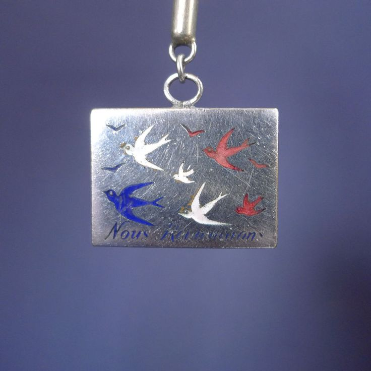 Gorgeous Swallows' Return Pendant or Brooch / Antique Birds Pin