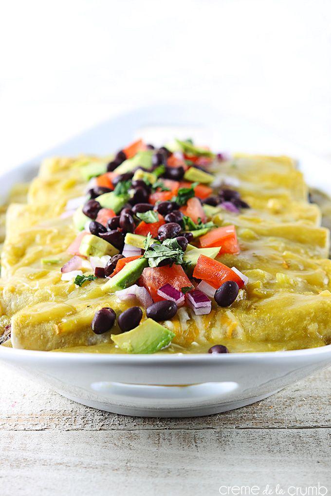 avocado black bean enchiladas + 9 other vegetarian enchilada recipes.