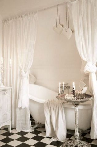 Stunning shabby chic bathroom decoration ideas (12)