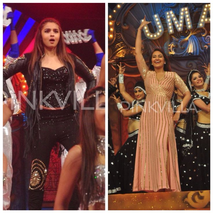 Alia Bhatt and Sonakshi Sinha performed at the Umang Mumbai Police Show 2015 in Mumbai today. Sonakshi, who made a lot of public appearances this month for the promotion of her film Tevar, performed for some of her hit numbers.