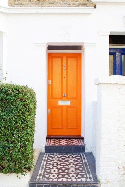 Best 25 Orange Front Doors Ideas On Pinterest Wood