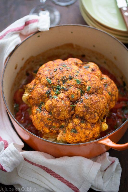 Chou fleur rôti entier au paprika fumé | Jujube en cuisine
