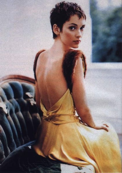 Winona Ryder—one of the few women out there who can truly rock super short hair cuts.