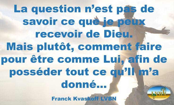 L'Evangile est simple, trop de gens le compliquent. Il vous faut ceci, il faut faire cela… Ce n'est absolument pas une question de faire ou de dire, mais de croire en devenant comme Lui.  www.lavraiebonnenouvelle.org