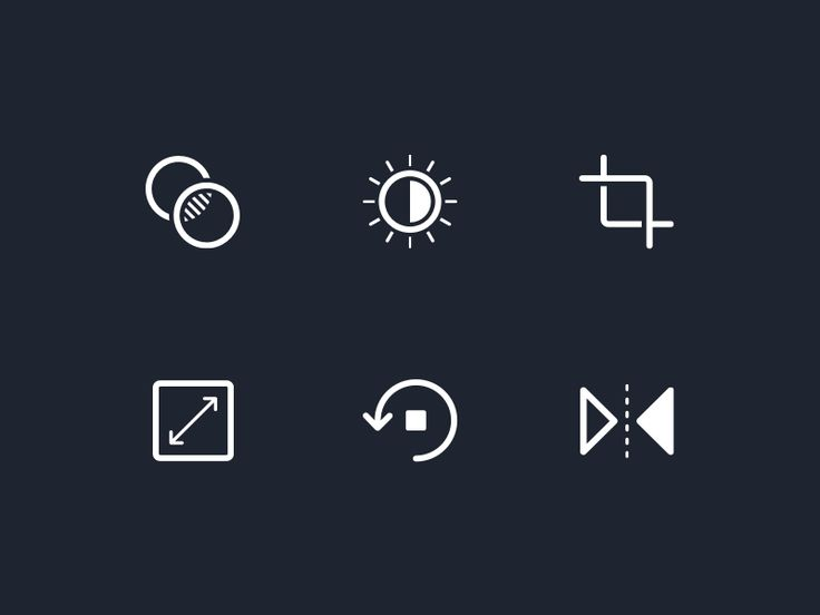 Photo Editor Icons by Matt Hardy