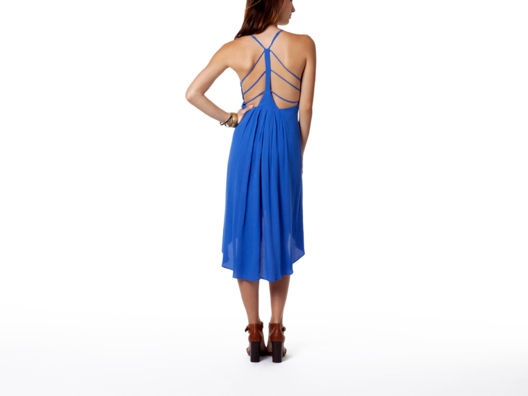 Back Cut Out Strap Dress
