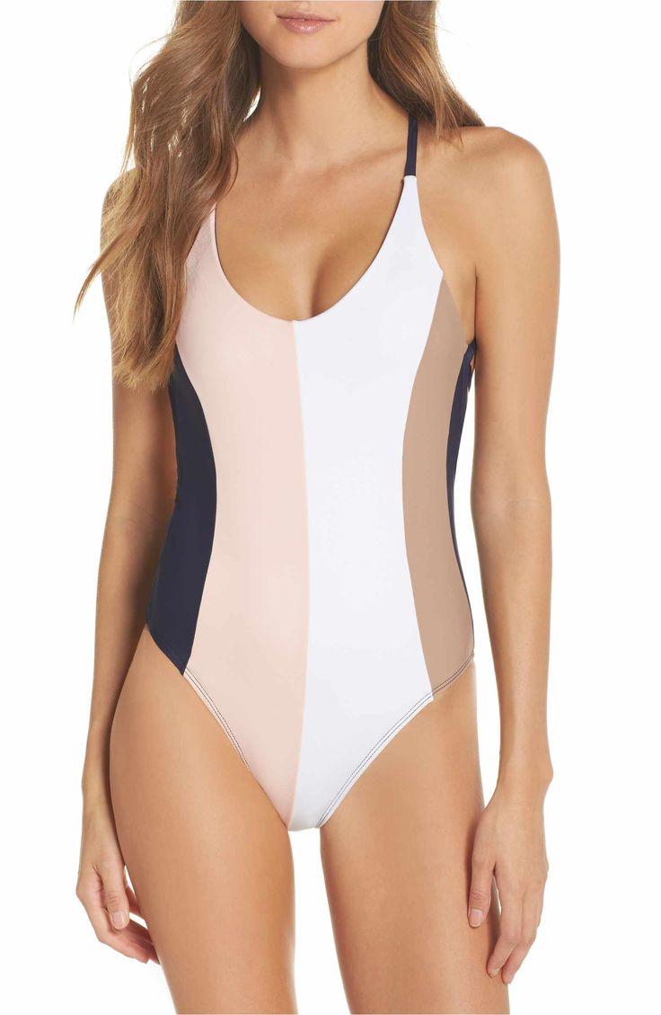 Main Image - PilyQ Farrah Colorblock One-Piece Swimsuit