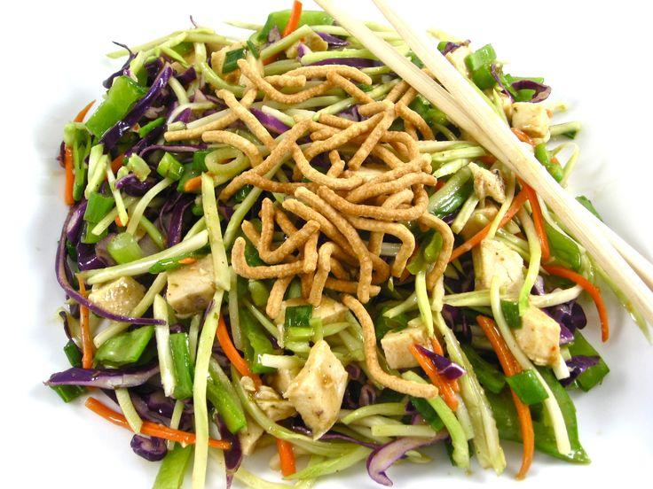 Skinnylightful Asian Chicken Broccoli Slaw Salad with Weight Watchers Points | Skinny Kitchen
