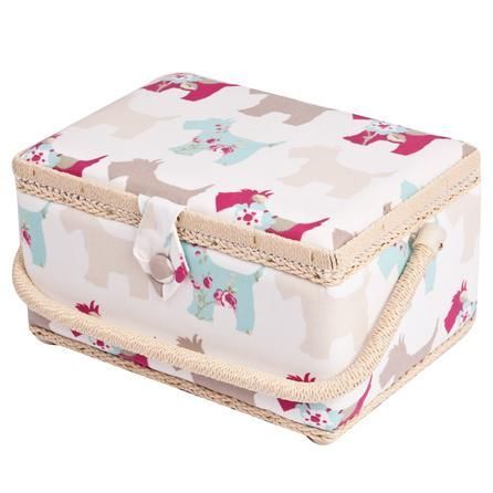 Practical, homely and elegant out Scotty Dogs Sewing Basket is a favourite, £13.99. #Craft #GBSB #Dunelmsewing