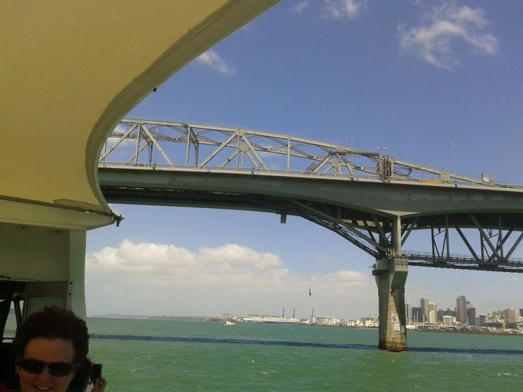 Auckland Harbour Bridge - Including a bungee jumper mid fall.