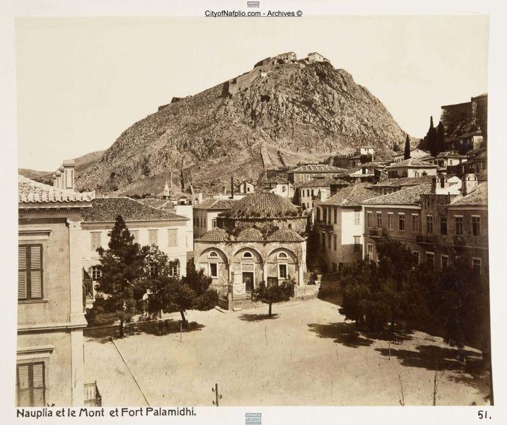Nauplia et le Mont et Fort Palamidi   Ναύπλιο, Ανάπλι, Ναυπλία, Napoli di Romania