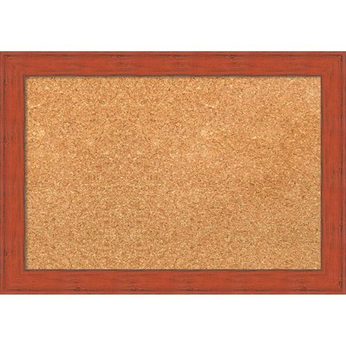 bourbon orange rustic 20 x 14 in framed cork board