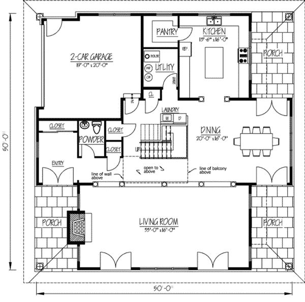 Plan 61004KS: Unique Design With Clerestory