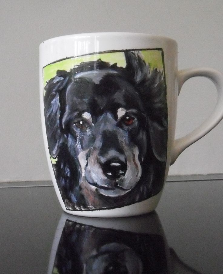 hand painted portrait on mug