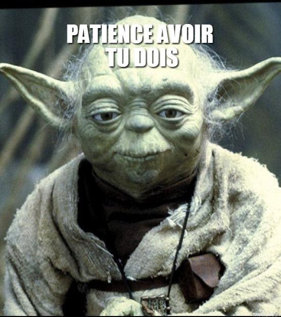 PATIENCE AVOIR TU DOIS | Yoda | Troll Meme Generator