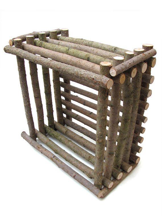 Rustic Willow Basket  Handmade Artisan Craft by TimberGreenWoods, $35.00