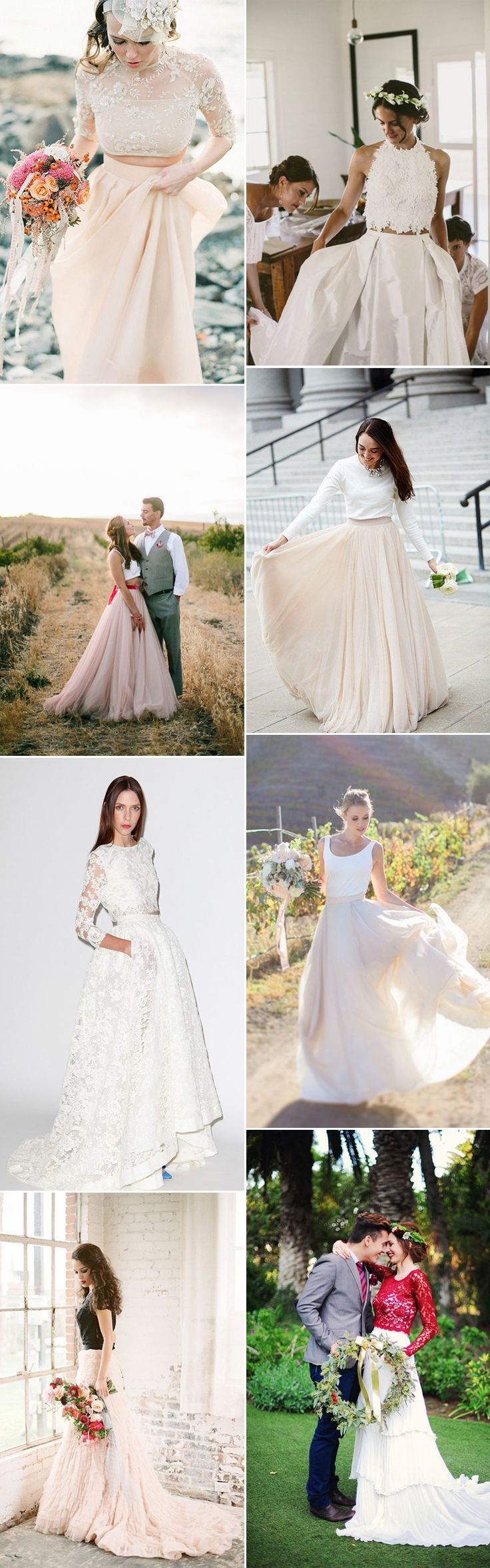 Move over wedding dresses, beautiful two pieces have flooded the catwalks recently. We take a look at top and skirt coords brides-to-be will simply adore!
