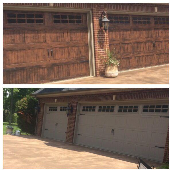 Gel stained garage doors garage doors pinterest for Garage ad stains