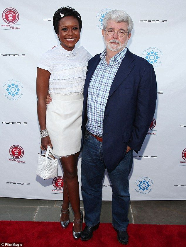 George Lucas celebrates engagement to girlfriend Mellody Hobson after seven years of dating