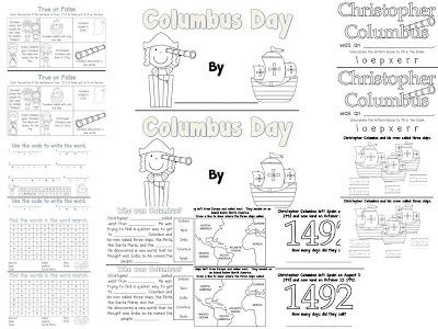 Columbus Day Book and a Sale
