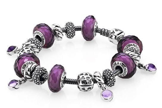 pandora joyas buscar con en morados y lilas