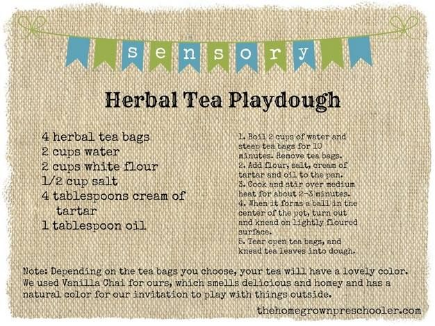 Herbal Tea Playdouh