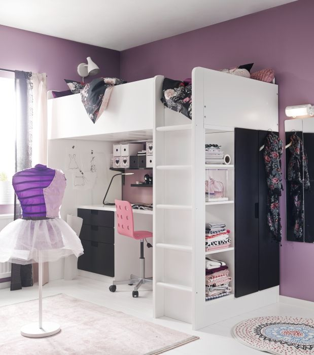 Sleeping, Working, Storage And Wardrobe Space   You Have Space For It All  With The STUVA Loft Bed.