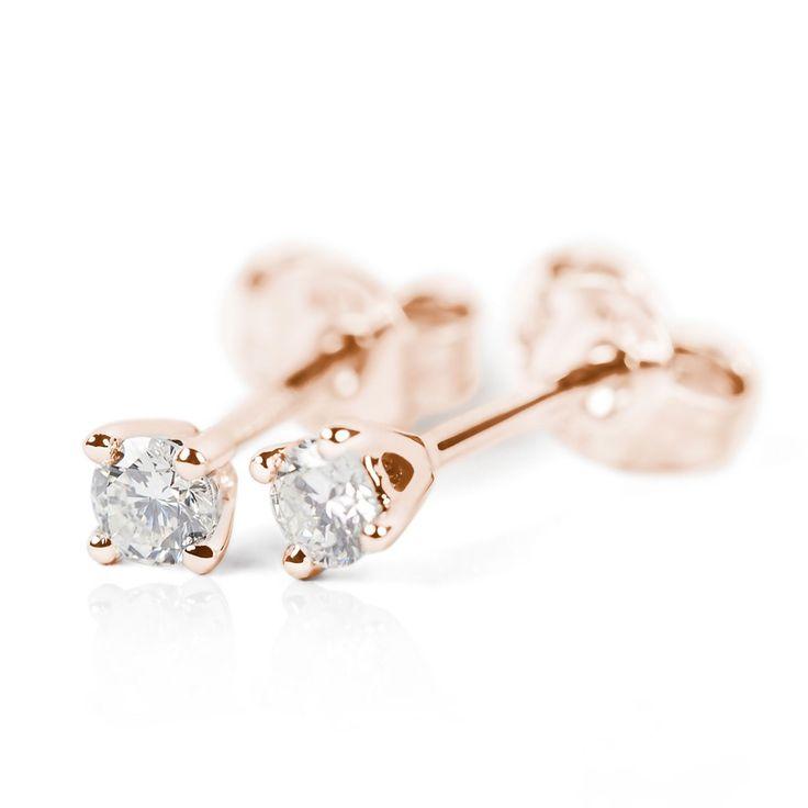 Classic rose gold diamond studs by Black Key Diamonds http://www.kimgray.co.za/competitions/