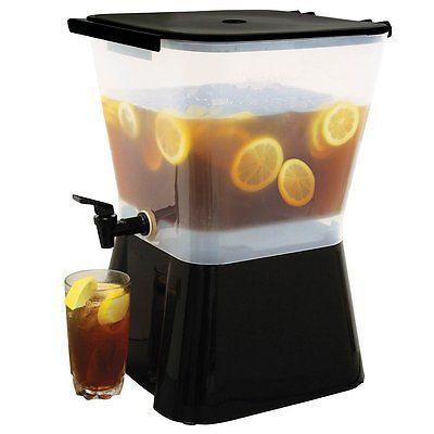 3 Gallon Beverage Dispenser Spigot Cold Drink Container Dripless Faucet Pitcher