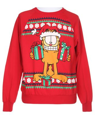 Garfield Red Christmas Sweatshirt