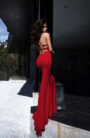 Abyss by Abby Troy Red gown! SATURDAY NIGHT PARTY DRESS SALE - Only until Midnight! at ShaideBoutique.com – SHAIDE BOUTIQUE