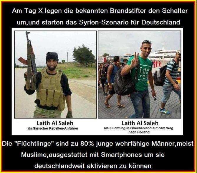 """Die """"Flüchtlinge"""" sind zu 80% junge wehrfähige Männer, meist Muslime, ausgestattet mit Smartphones, um sie deutschlandweit aktivieren zu können."""