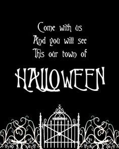 Nice Free Halloween Town Printable   If You Love The Nightmare Before Christmas,  You Will Love