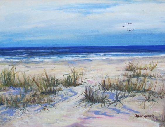 ocean art sand pinterest landschaften malerei und malen. Black Bedroom Furniture Sets. Home Design Ideas
