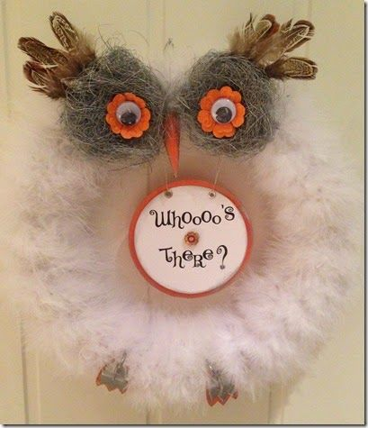 Owl wreath.