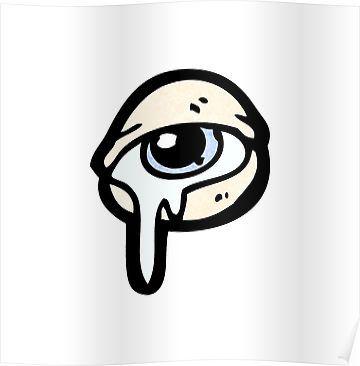 crying eye cartoon