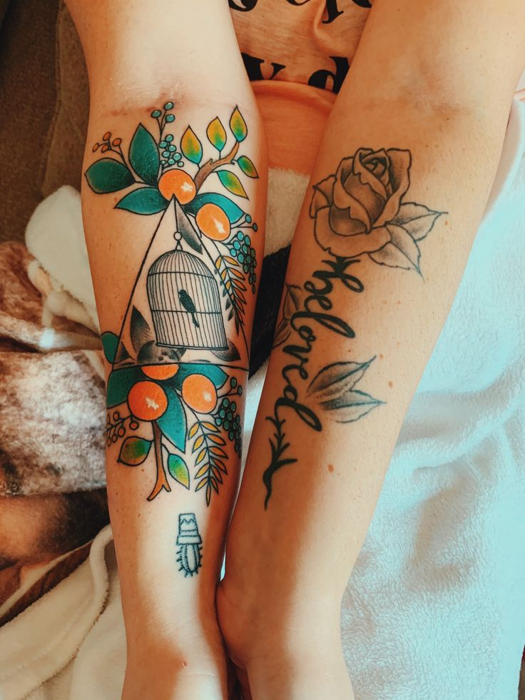 Floral florida bird cage tattoo in 2020 cage tattoos