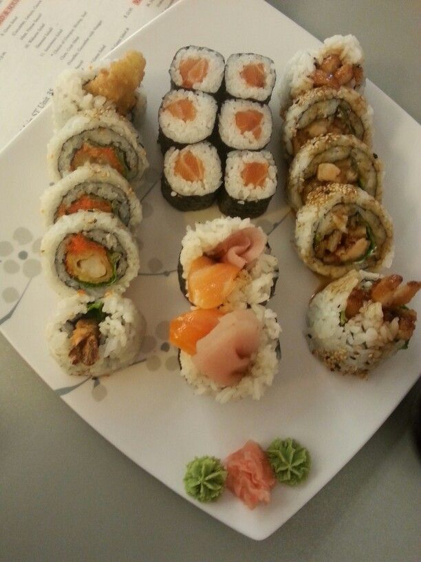 A cheap sushi place with some really good rolls :) such a good day i had with my sister.
