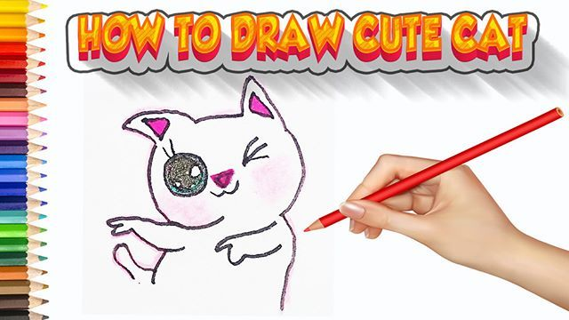 How To Draw A Cartoon Cat Step By Step Cute Cat Face Drawing