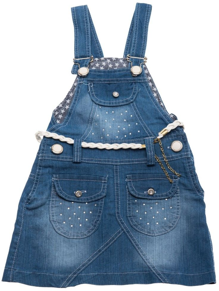 Cinar παιδικό φόρεμα σαλοπέτα τζιν «Stars» - Παιδικά ρούχα AZshop.gr